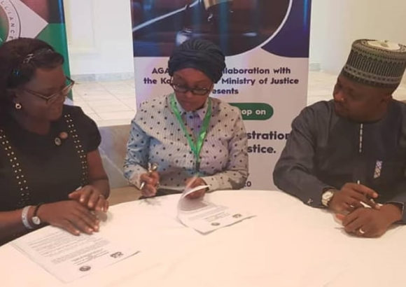 AGA-Africa Mou Signing With The Kaduna State Ministry Of Justice, Nigeria